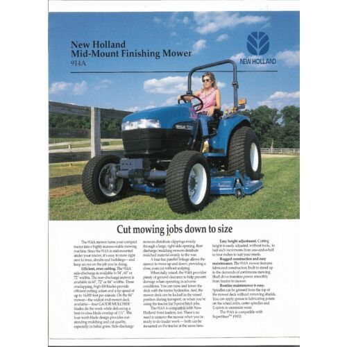 original-new-holland-914a-mid-mount-finishing-mower-sales-brochure-31091418