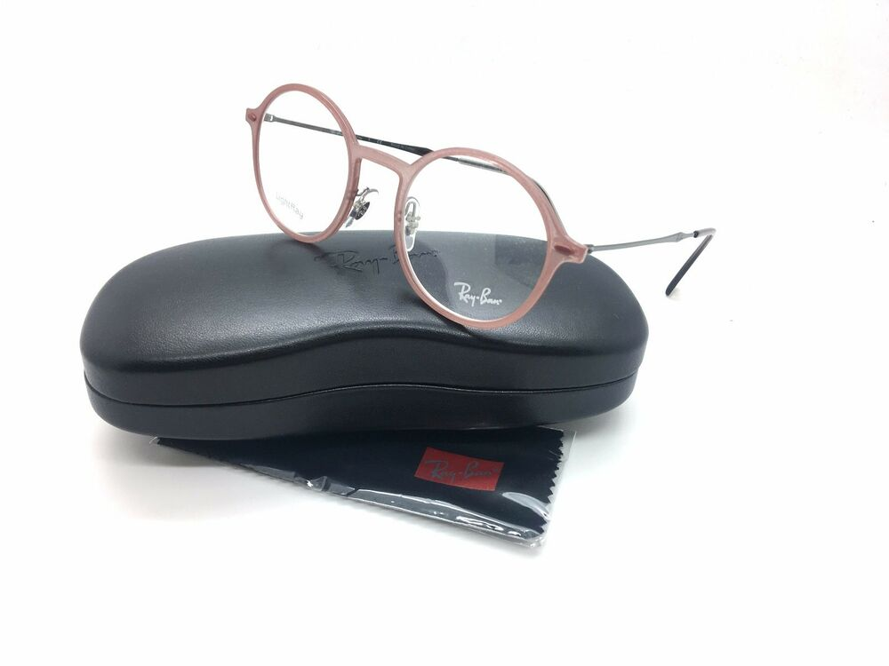 6a666508fd Details about Ray-Ban RB 7087 5637 LightRay Mauve New Authentic Eyeglasses  48mm w