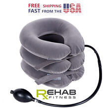 Rehab Fitness Cervical Neck Traction Device Inflatable Shoulder Pain Relief USA