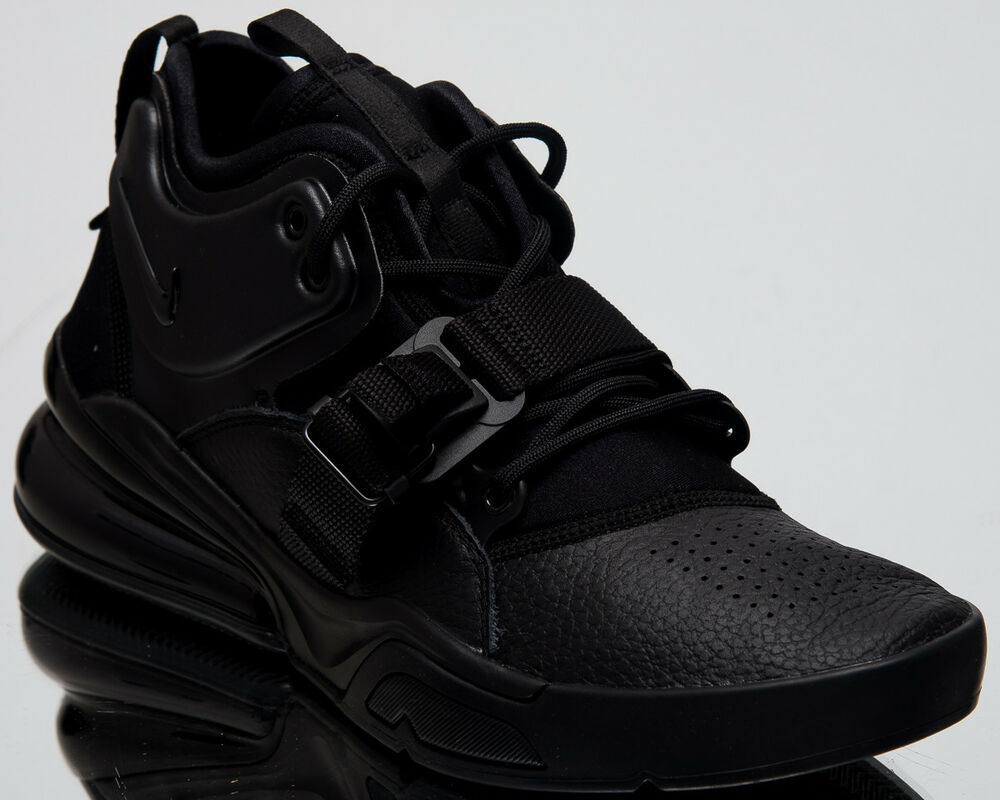 cbfe540b468 Details about Nike Air Force 270 Triple Black Men New Lifestyle Casual  Sneakers AH6772-010