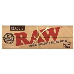 Raw Classic 1 1/4 Natural Rolling Papers 50Lvs LOWEST USA Shipped PRICES