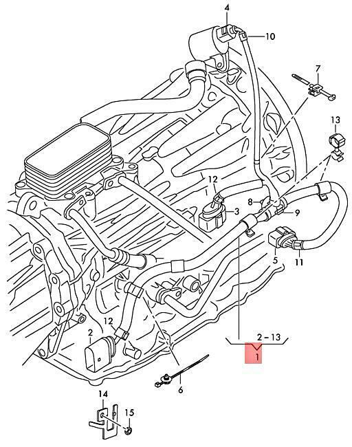 Genuine Audi Q7 Wiring Harness For Gearbox 4l0971771