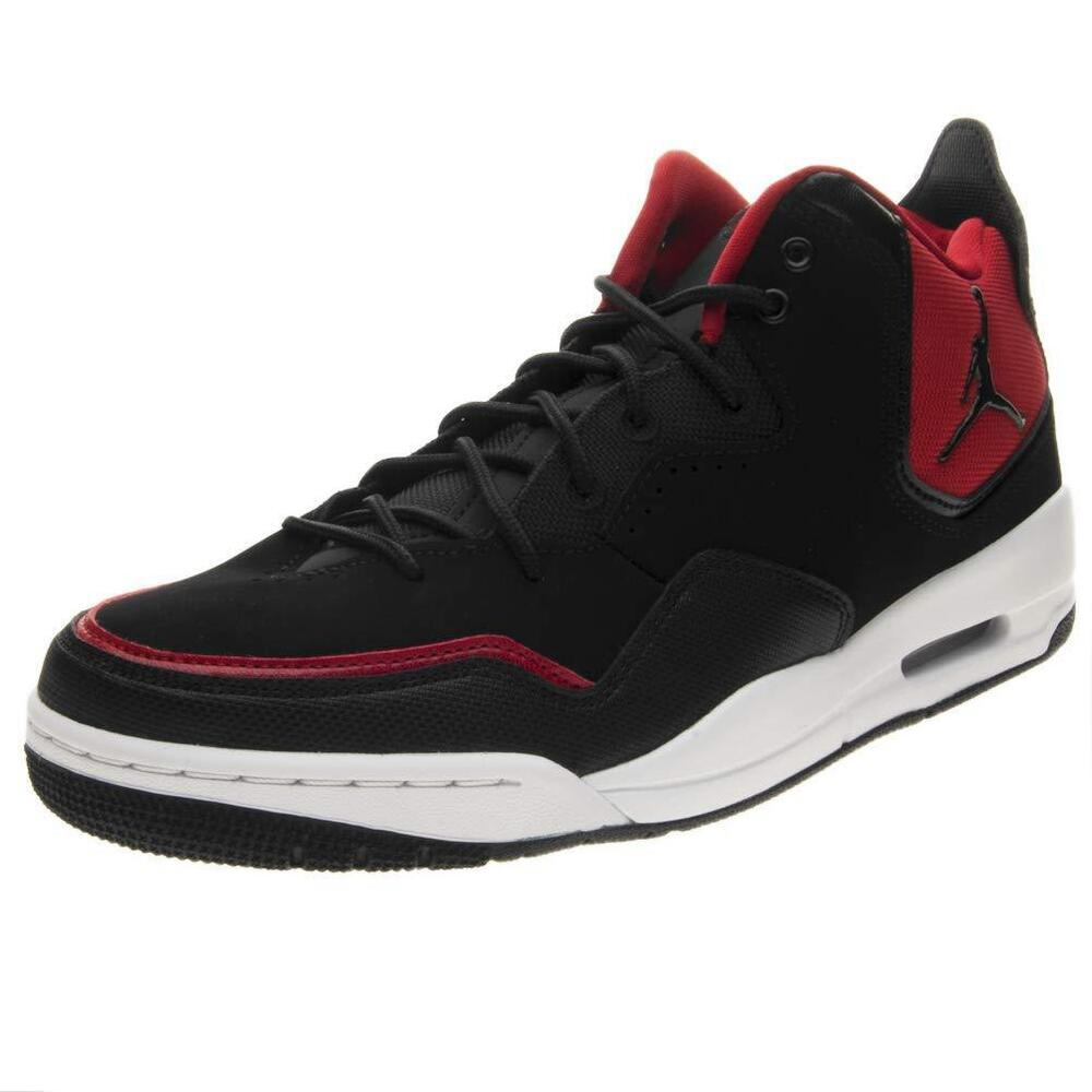 the latest 70f0b 834c6 Details about Jordan COURTSIDE 23 Mens Black Gym Red-White AR1000-006 Lace  Up Basketball Shoes