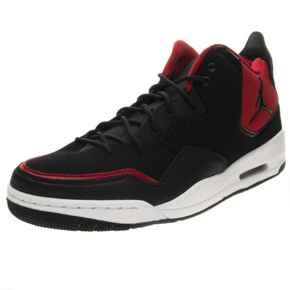the latest ab907 f9e4f Details about Jordan COURTSIDE 23 Mens Black Gym Red-White AR1000-006 Lace  Up Basketball Shoes
