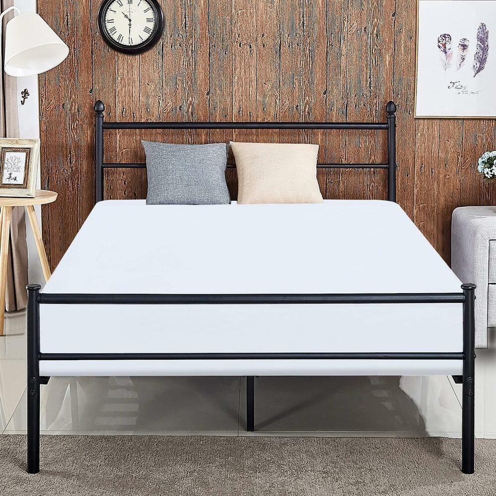 Metal Platform Bed Frame Queen With Storage Headboard Easy