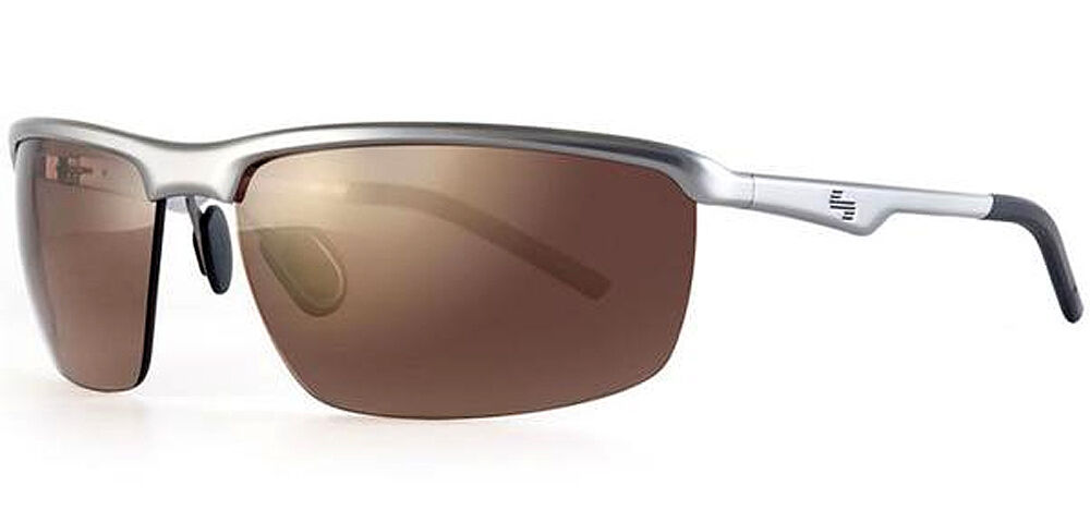 2a1ebd0ebb86 Details about Sundog Illusion Metal Frame TrueBlue Golf Sunglasses Matte  Silverl   Brown Lens