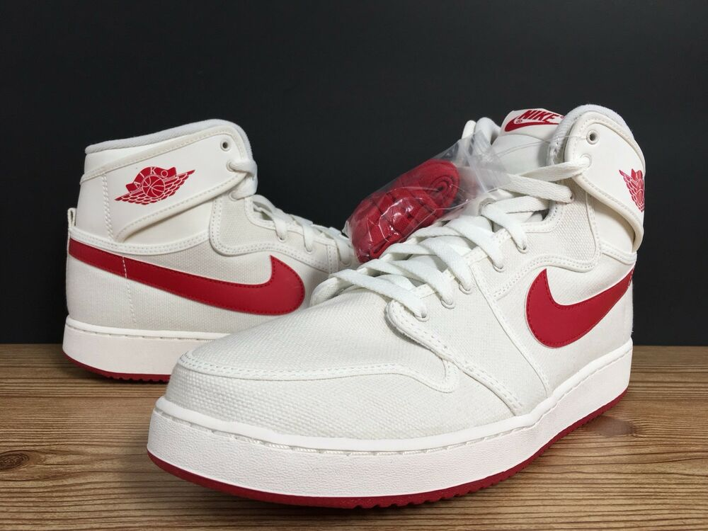 6697701287162d Details about Nike Air Jordan 1 KO AJKO High OG sail red white size 11.5  638471-102 Retro