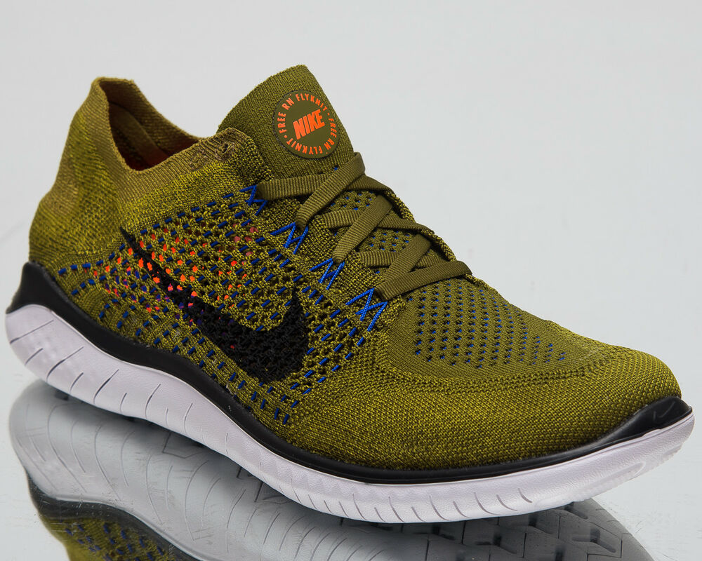 bc694e82d5e97b Details about Nike Free RN Flyknit 2018 Men Running Shoes Olive Flak Black  Sneakers 942838-302