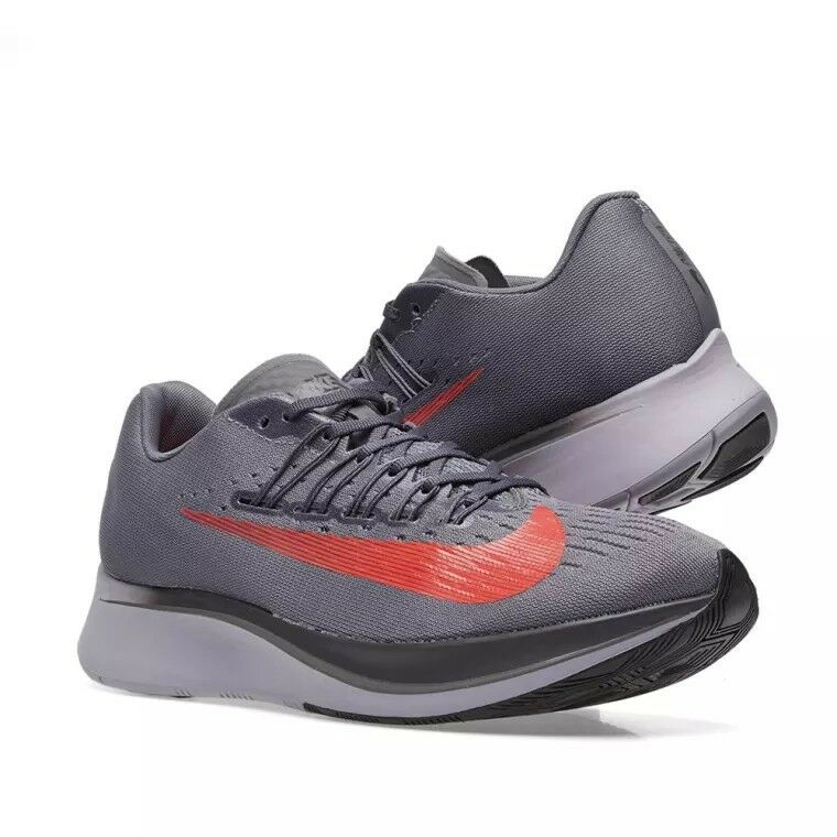8eafe1d32c1f Details about Nike Zoom Fly Gunsmoke Bright Crimson Grey Mens Running Shoes  size 9