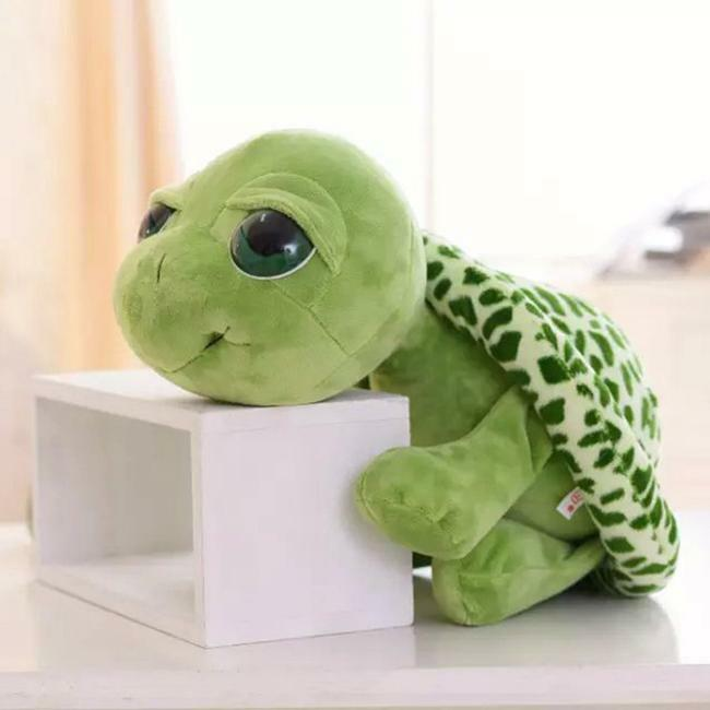Plush Big Eyes Tortoise Toy Stuffed Sea Turtles Animal Baby Kids