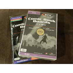 Kyпить 100 New BCW Silver Age Resealable Thick Comic Book Bags And Boards - Acid Free на еВаy.соm