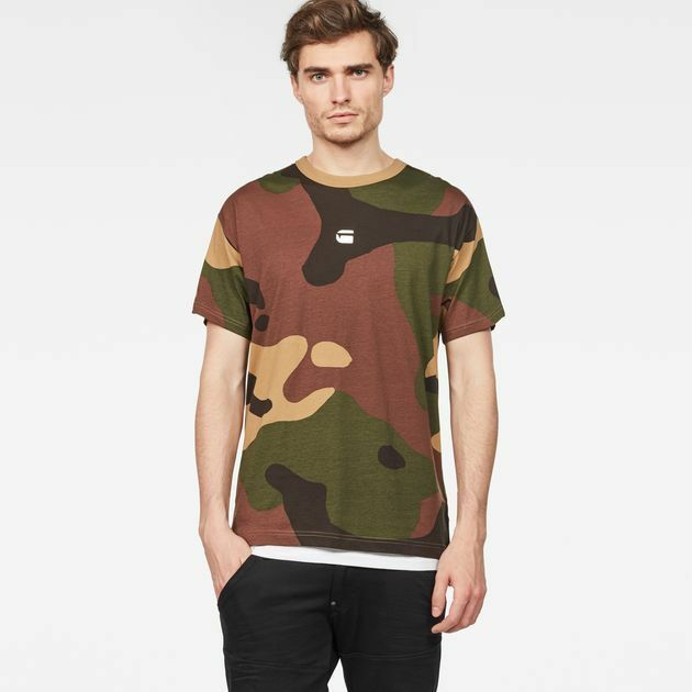 cd0be795e Details about G Star Raw Kurser Loose T Shirt Mens M Camouflage Jersey Dark  Fall/Green NWT $65