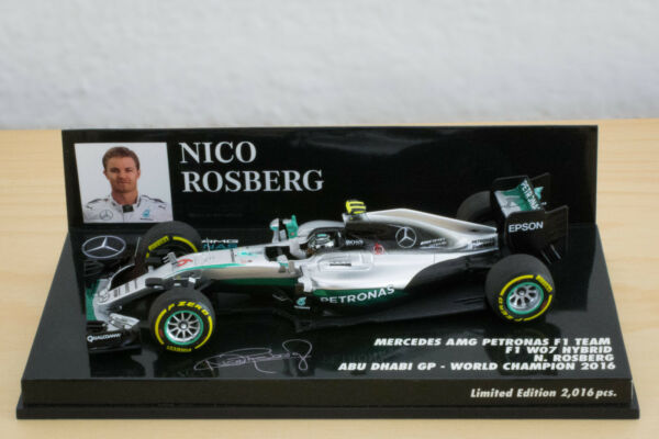 1/43 Nico Rosberg Mercedes AMG W07 2016 Abu Dhabi World Champion