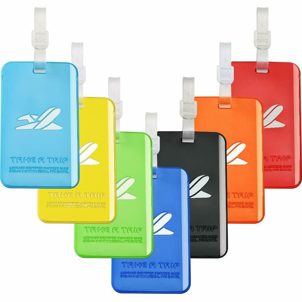 b1e825589a2d Details about Lightweight Waterproof Silicone Bright Color Flexible Travel  Luggage Tag 7 Color