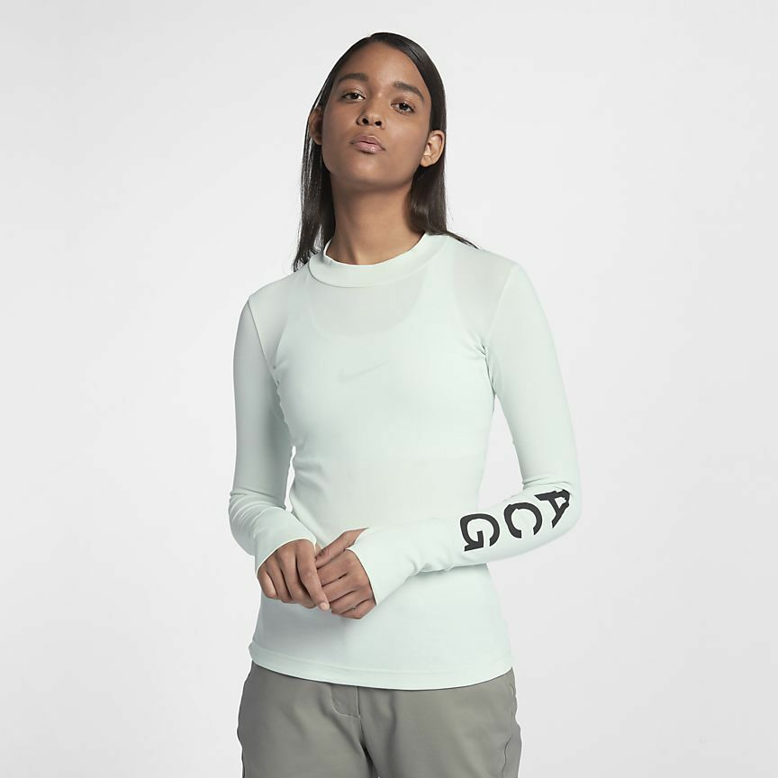 2f20cf2a2a Details about Nike NikeLab ACG Long Sleeve Women's Top M Green Mint Gym  Casual Training New