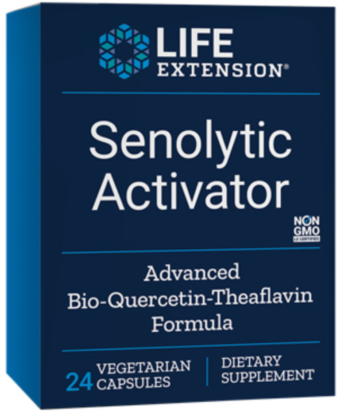 2 PACK $16 Life Extension Senolytic Activator Bio-Quercetin Theaflavins