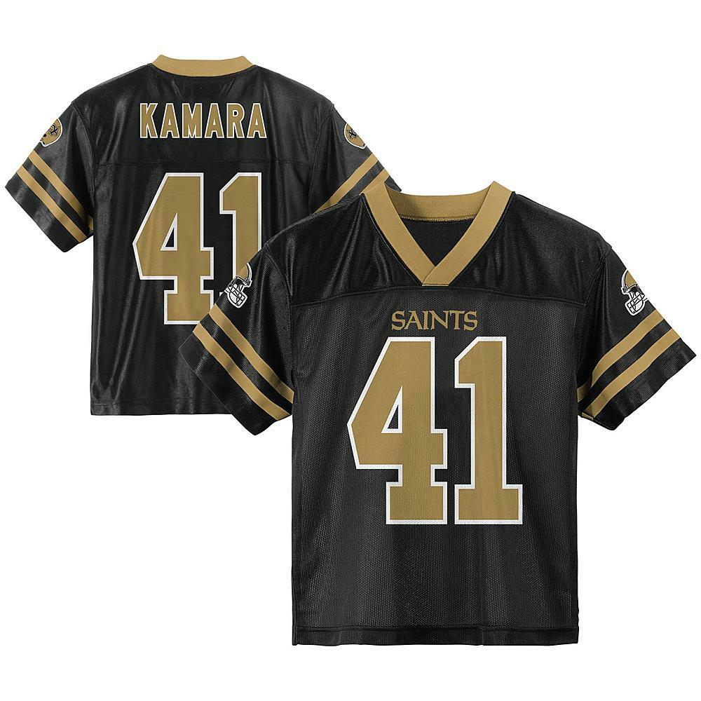 02cff7e14 Details about NFL New Orleans Saints Alvin Kamara  41 Youth Performance  Jersey