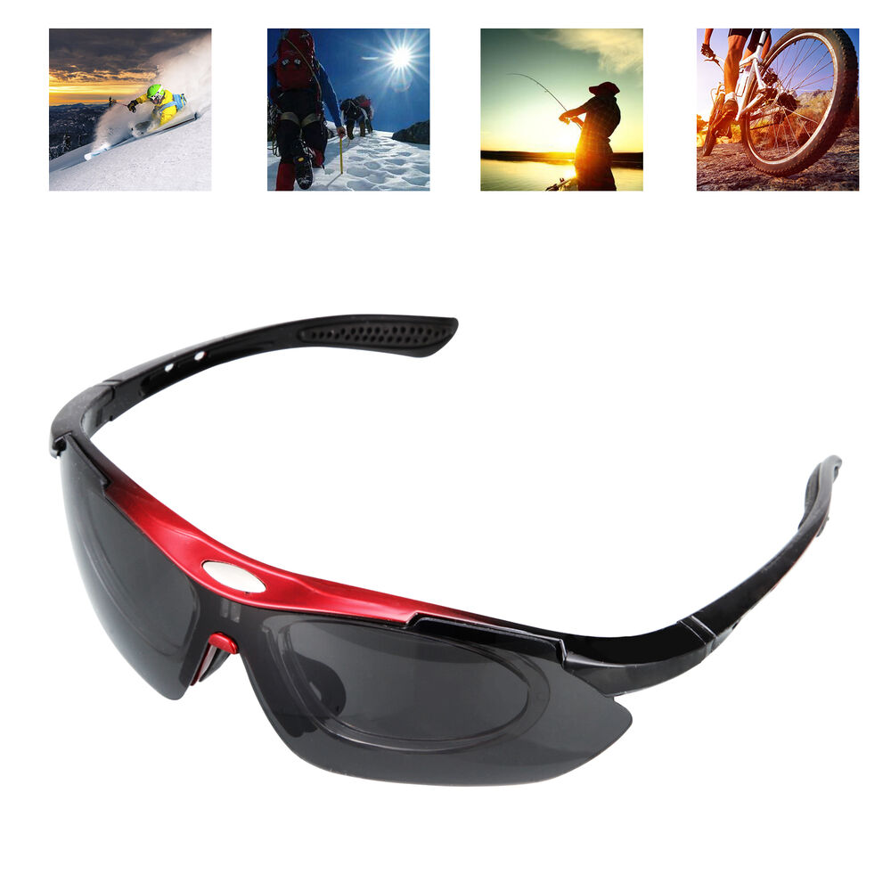 33f9e07583 Details about Anti-UV 5 Lens Cycling Outdoor Sports Goggles Bike Polarized  Glasses Sunglasses