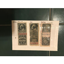 3 different CANADA Weights and Measures Revenue stamps
