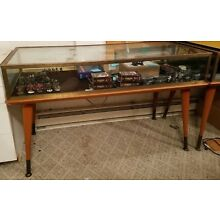 Glass, Brass, and Wood large rectangular display case - local pickup only
