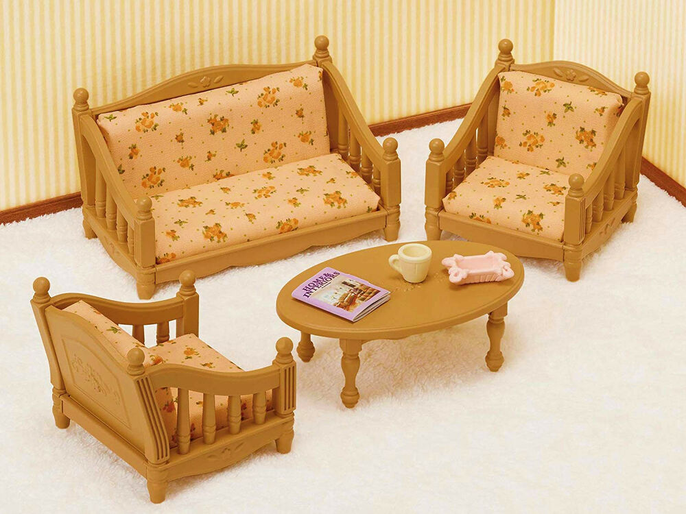 Sylvanian Families Calico Critters Furniture Living Room ...