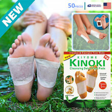 50 CLEANSING KINOKI DETOX FOOT PADS PATCH PAIN RELIEF SOOTHING HERBAL ro