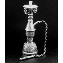 Vintage Egyptian 900 Silver Water Pipe/Hookah Miniature Reproduction