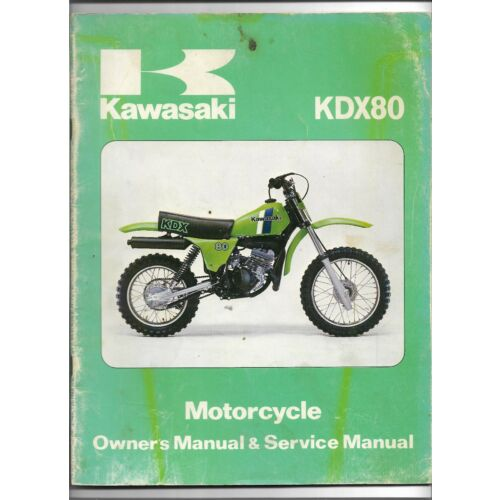 original-oe-oem-kawasaki-kdx80-motorcycle-owners-service-manual-99920108603
