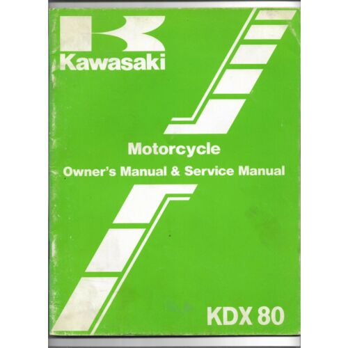 original-oe-oem-kawasaki-kdx80-motorcycle-owners-service-manual-99920129301