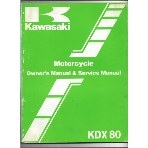 original-oe-oem-kawasaki-kdx80-motorcycle-owners-service-manual-99920132701