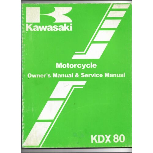 original-oe-oem-kawasaki-kdx80-motorcycle-owners-service-manual-99920137301
