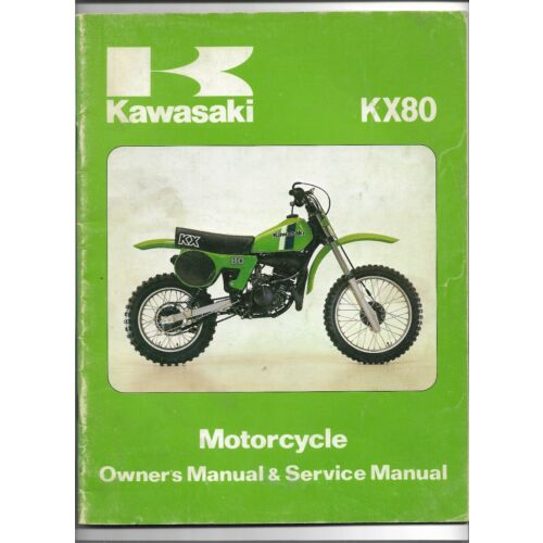 original-oe-oem-kawasaki-kx80-motorcycle-owners-service-manual-99920108501