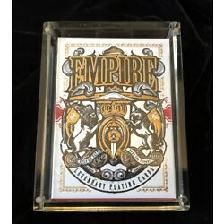 EMPIRE Limited Edition Playing Cards by Kings & Crooks / Carat X1 Case