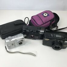 Camera Lot digital 35mm cases for parts