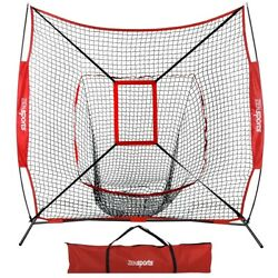 Kyпить  7x7 Ft Baseball Softball Teeball Practice Batting Training Net w/ Strike Zone на еВаy.соm