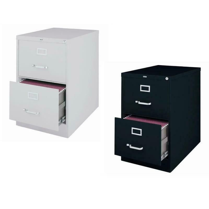 Value Pack Set Of 2 Drawer Legal File Cabinet In Gray And Black