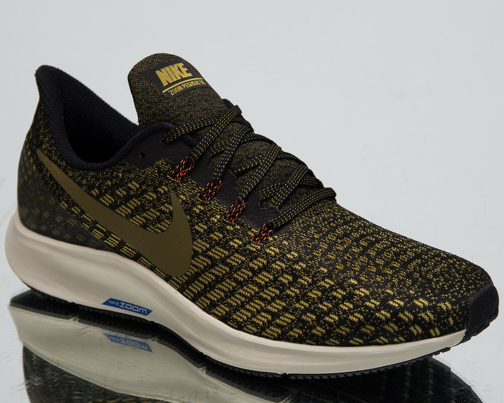 0d577d486 Details about Nike Air Zoom Pegasus 35 Men s Running Shoes Black Olive New  Sneakers 942851-011