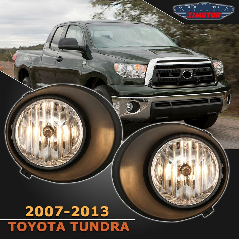 Details About Fit Toyota Tundra 07 13 Clear Lens Pair Oe Fog Light Lamp Wiring Switch Full Kit