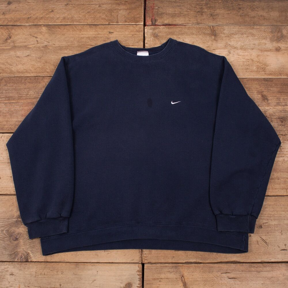 Details about Mens Vintage Nike 90s Navy Blue Crew Neck Sweatshirt Jumper  XXL 52