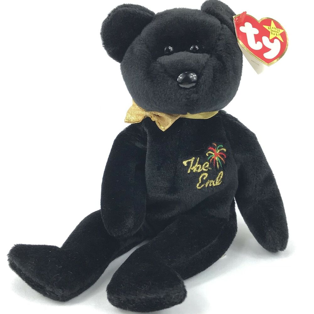 """125e33d79e8 Details about Ty Beanie Babies """"The End"""" Bear Rare Errors Retired Mint  Collectible Gift"""