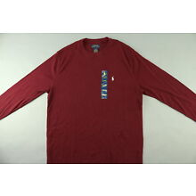NWT $45 Polo Ralph Lauren Men's Burgundy Waffle-Knit Long Sleeve Thermal Size XL