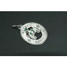 Fireplace Stockings Jeweled Merry Christmas Charm Sterling Silver Vintage Mint