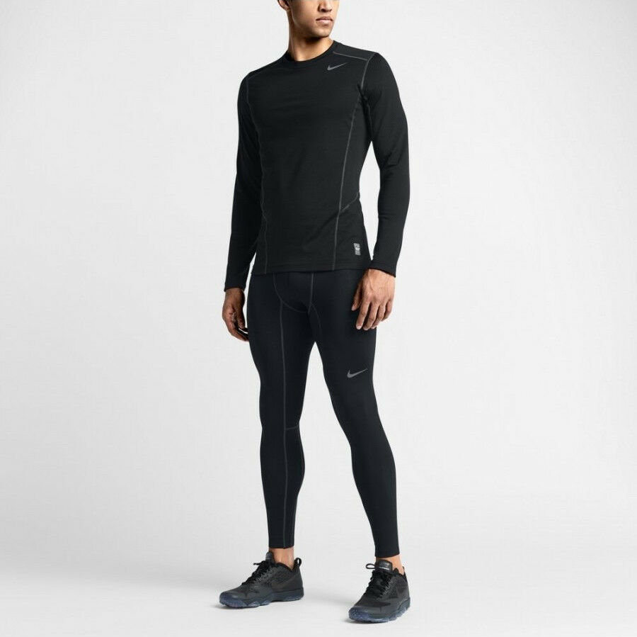 Details about MENS NIKE PRO HYPERWARM COMPRESSION TRAINING RUNNING GYM BASE  LAYER TIGHTS 28d19ac4b5796