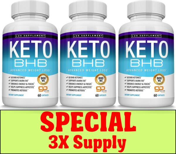 Keto Diet Pills BHB - Advanced Ketogenic Weight Loss Fat Burner Three Months