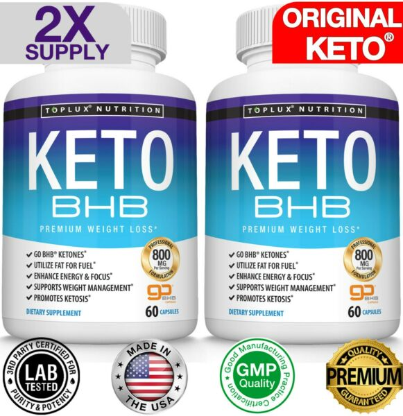 Keto Diet Pills BHB-Best Weight Loss Supplements To Fat Burn Fast & Carb Blocker