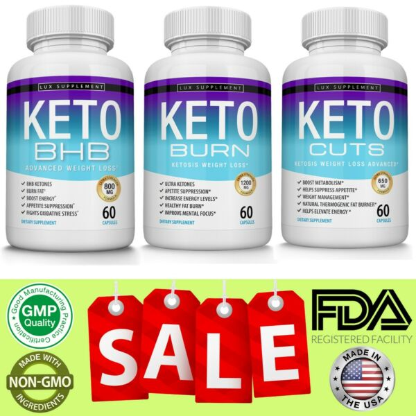 Keto Diet Pills - 3 Advanced Best Ketosis Weight Loss Ketogenic & Carb Blocker