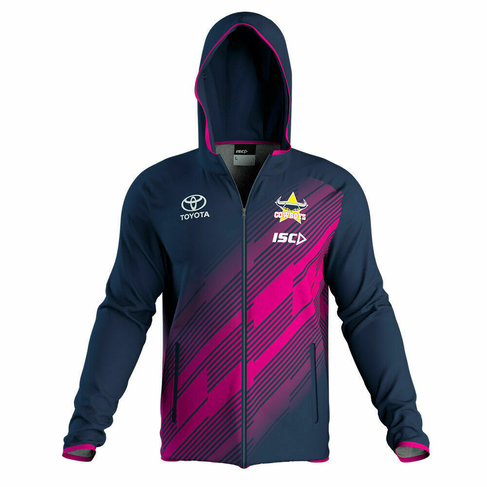 Details about North Queensland Cowboys NRL 2019 Navy Pink Hoody Hoodie  Jacket Sizes S-5XL! 601cc9e3f