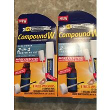 Compound W Wart Plantar Removal 2-in-1 Extra Strength Dual Power *NEW* 1 Kit