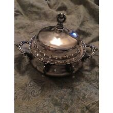 Forbes Silver Co. Quadruple Silver Plated Butter Dish Pattern # 183