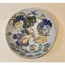 A 19th c. Chinese Antique Enameled Plate / Dish - Qianlong Qing Dynasty